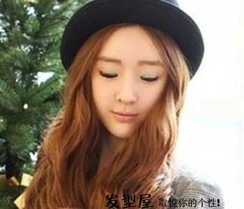 瓜子脸适合的发型图 时尚气质中长发发型图片