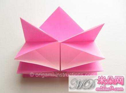 桃花叶子折纸步骤图
